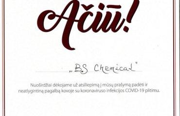 BS-Chemical padėka
